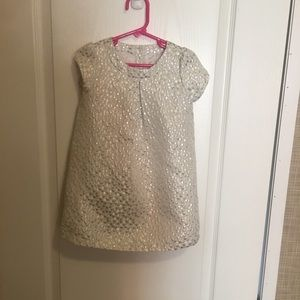 Crazy eight white and silver size 3 t dress